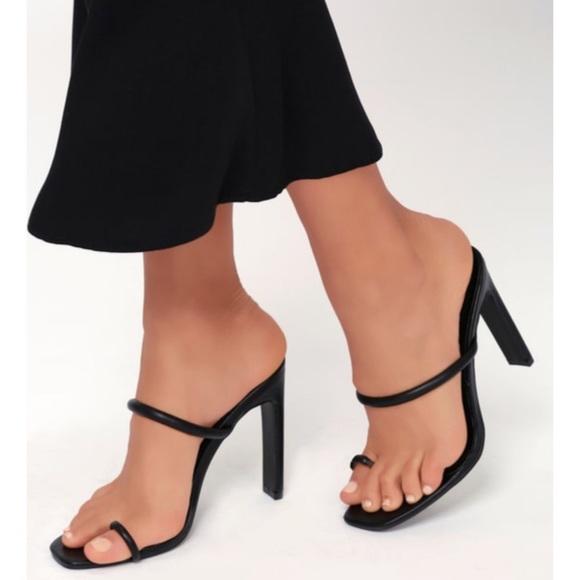 Lulu's Shoes | Toe Loop Heels | Poshmark